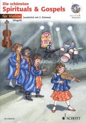 Die Schonsten Spirituals & Gospels (1 - 2 Violins) (Bk-Cd) (edited by Hans and Marianne Magolt)