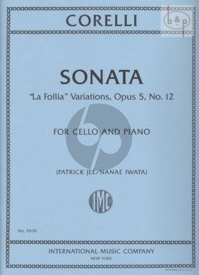 "Sonata Op.5 No.12 ""La Follia Variations"""