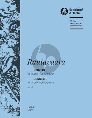 Rautavaara Konzert No.1 Op.41 Violoncello-Orchester Partitur