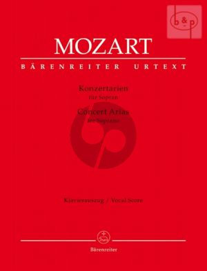 Konzertarien (Concert Arias) (Soprano with Piano red.)