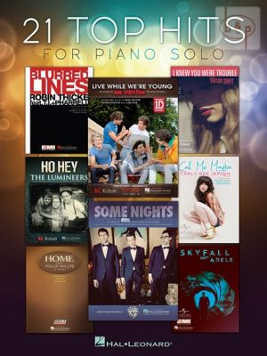 21 Top Hits for Solo Piano
