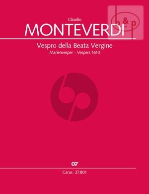 Vespro della Beata Vergine (Vespers 1610) (Soli-Choir-Orch.) (Vocal Score) (edited by Uwe Wolf)