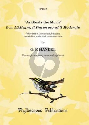 Handel As Steals the Morn from L'Allegro, Il Pensoroso ed il Moderato Soprano[Tenor]-Piano