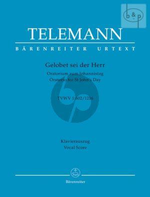 Gelobet sei der Herr TWV 1:602 / 1216 (Soli-Choir-Orch.) (Vocal Score) (germ.)