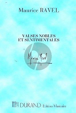 Ravel Valses Nobles et Sentimentales Orchestra Study Score