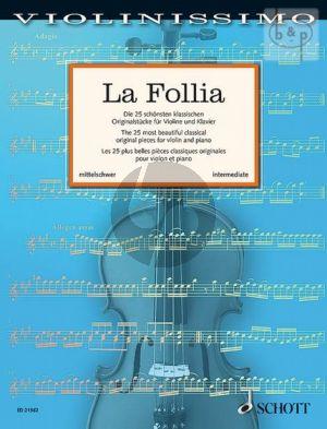 La Follia Violine und Klavier (Violinissimo Vol. 2)