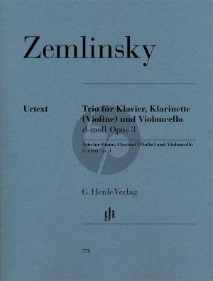 Zemlinsky  Trio d moll op.3 Klar.[Vi.]-Vc.-Klavier