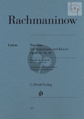 Vocalise Op.34 No.14 (High Voice-Piano)