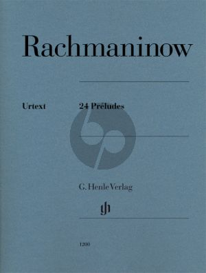 Rachmaninoff 24 Preludes Op.3 No.2, Op.23 and Op.32 for Piano (edited by Dominik Rahmer) (Henle-Urtext)
