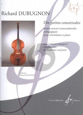 10 Petites Concertudes Vol.1 (No.1 - 5) (Double Bass-piano)