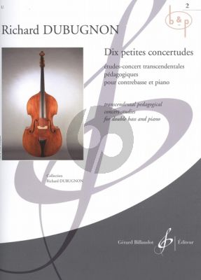10 Petites Concertudes Vol.2 (No.6 - 10) (Double Bass-Piano)