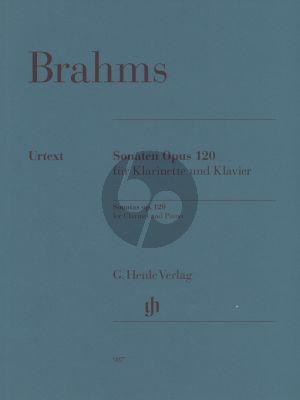 Brahms 2 Sonaten Op.120 (Clarinet Version) (edited by Egon Voss and Johannes Behr)