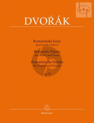 Dvorak Romantic Pieces Op.75 Violin-Piano