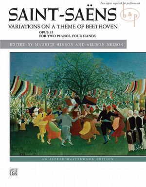 Variations on a theme of Beethoven Op.35 2 Piano's 4 hds