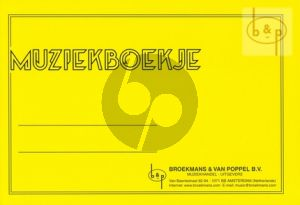 Muziekschriftje met 6 balken notenpapier Geel