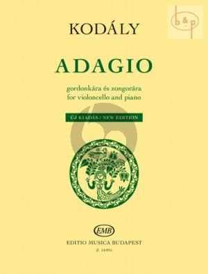 Adagio Violoncello and Piano