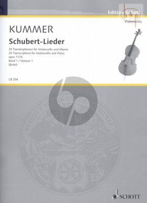 Schubert-Lieder Op. 117b Vol. 1 Violoncello und Klavier