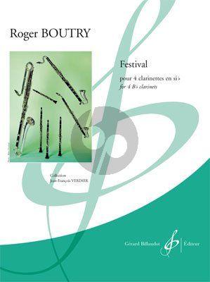 Boutry Festival 4 Clarinets [Bb]) (Score/Parts) (adv.level) (grade 7)