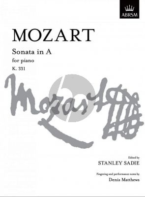 Mozart Sonata A-major KV 331 Piano (edited by Stanley Sadie)