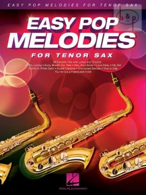 Easy Pop Melodies for Tenor Sax.