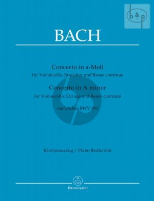 Concerto a-minor after BWV 593 (Vc.-Str.-Bc) (Score)