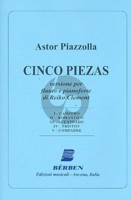 Piazzolla 5 Pieces Flute-Piano (transcr. by Reiko Clement)