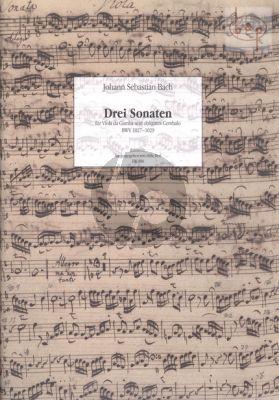 3 Sonaten BWV 1027 - 1029 (Viola da Gamba-obl. Cembalo)