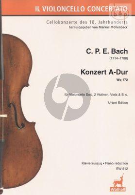 Concerto A-major WQ 172 Violoncello solo- 2 Vi.-Va.-Bc.
