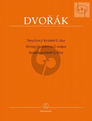 Quintet G-major Op.77 (2 Vi.-Va.-Vc.-Bass) (Parts)