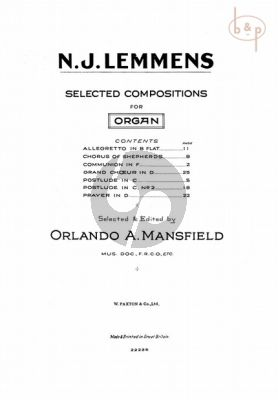 Selected Compositions for Organ