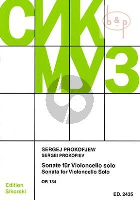 Prokofieff Sonata Op.134 fur Violoncello Solo (herausgegeben von Vladimir Blok)