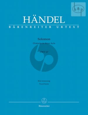Solomon HWV 67 (Soli-Choir-Orch.) (Vocal Score) (edited by H.D. Clausen)