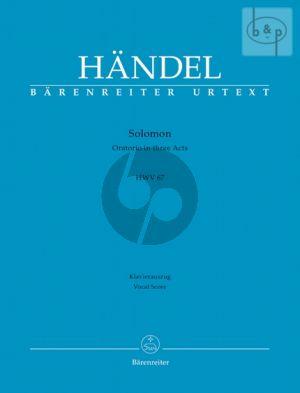 Solomon HWV 67 (Soli-Choir-Orch.) (Vocal Score) (edited by H.D. Clausen)