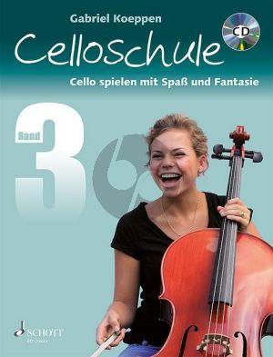 Koeppen Celloschule (Cello Spielen mit Spass und Fantasie) Vol.3 (Bk-Cd)
