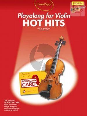 Guest Spot Hot Hits Playalong for Violin