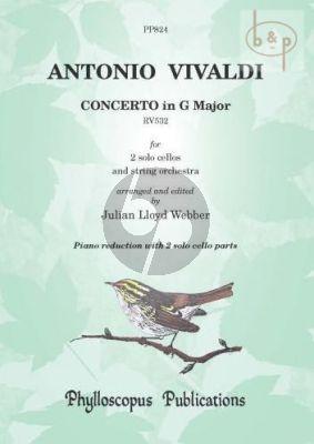 Concerto G-major RV 532 (orig. Mandolin Double Concerto) (2 Violonc.-piano)