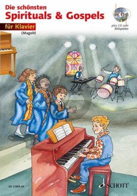 Die Schonsten Spirituels & Gospels (Piano) (Bk-Cd)
