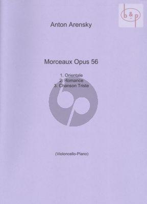 3 Morceaux Op.56 Violoncello-Piano
