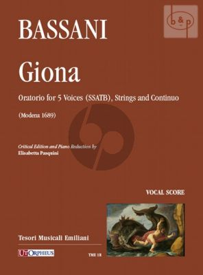 Giona (Oratorio) (SSATB-Strings-Bc) (Vocal Score)