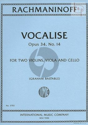 Vocalise Op.34 No.14 (2 Vi.-Va.-Vc.)