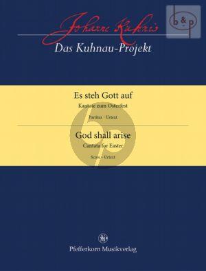 Es steh Gott auf (Kantate zum Osterfest) (SSATB- 2 Trp.- 3 Trb.-Pk.-Bc.) (Score)