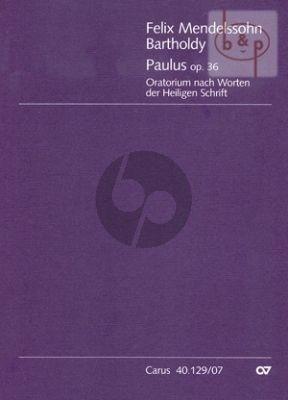 Paulus Op.36 (SATB[soli]-SATB[choir]-Orch.) (Study Score)