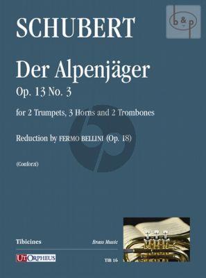 Der Alpenjager Op.13 No.3 (2 Trp.[F]- 3 Horns[F] Tenor Tromb.-Bass Tromb.) (Score/Parts)
