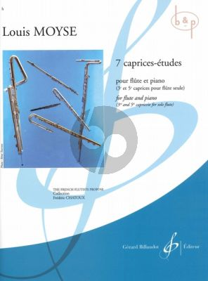 7 Caprices-Etudes for Flute and Piano (No.3 and 5 for Solo Flute)