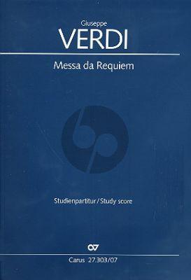 Verdi Messa da Requiem (SMsTB Soli-SATB-Orch.) Study Score