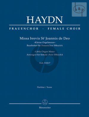 Missa Brevis St.Joannis de Deo (Kleine Orgelmesse Hob. XXII:7 (Sopr.solo-SMezAA-Orch.) (Score)
