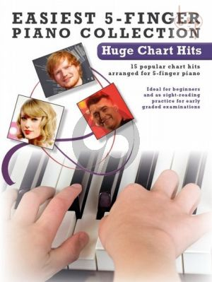 Easiest 5 Finger Piano Collection Huge Chart Hits