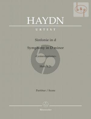 Symphony d-minor No.26 Hob.I:26 (Lamentazione) (Orch.) (Full Score)