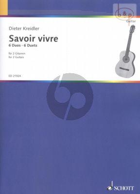 Kreidler Savoir vivre (6 Duets) 2 Guitars