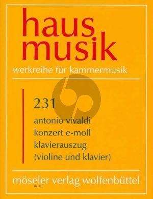 Vivaldi Konzert e-moll RV 275 / PV 109 Violine und Klavier (Hanno Haag)